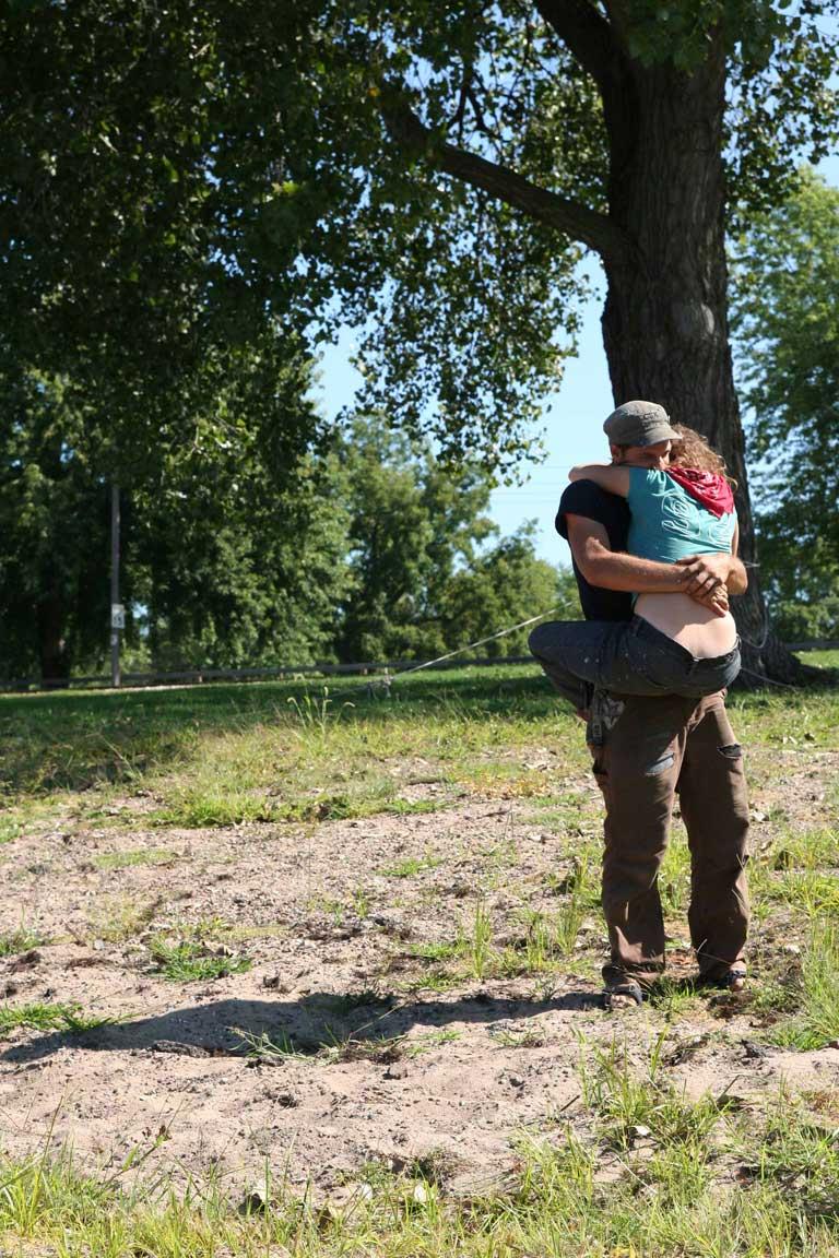 kev and callie say goodbye